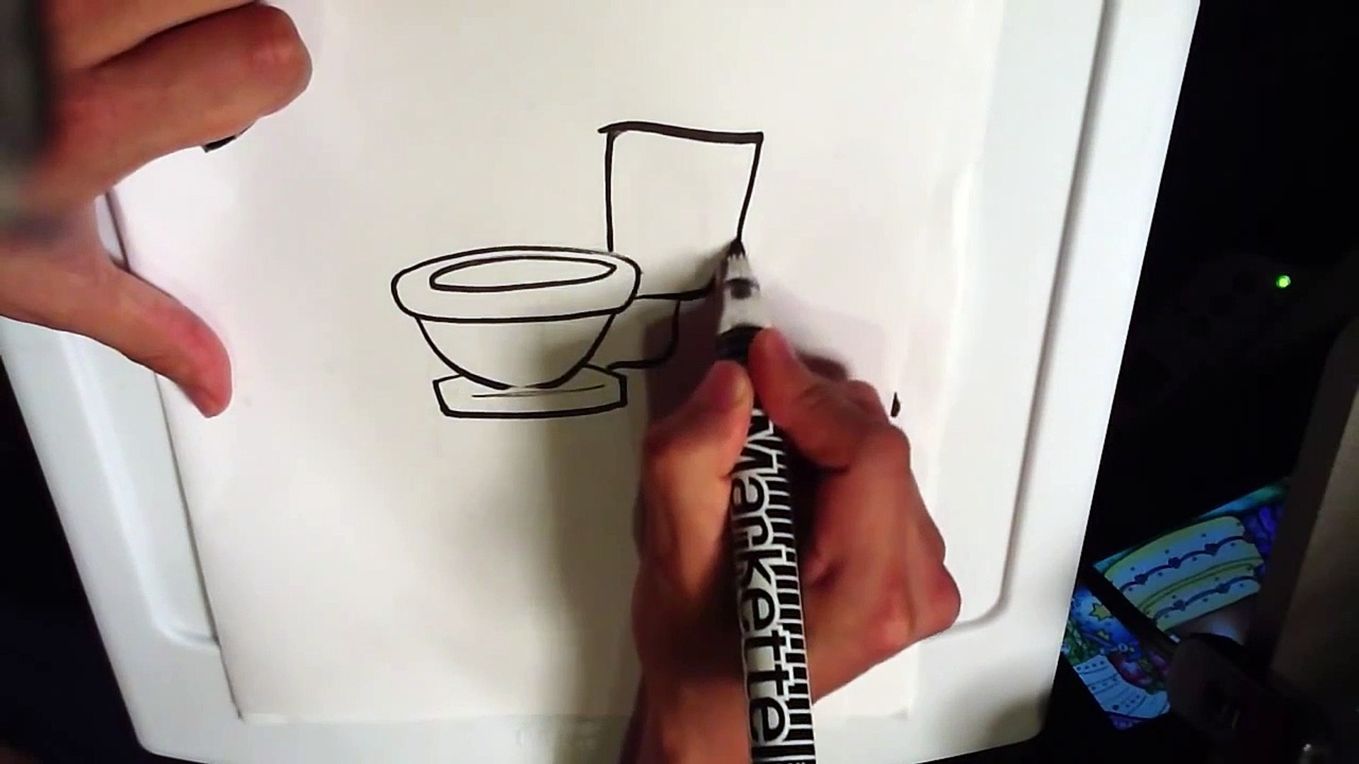 How to Draw a Toilet - Easy Things To Draw
