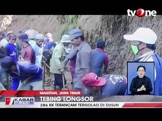 Tebing Setinggi 100 Meter di Lereng Gunung Lawu Longsor