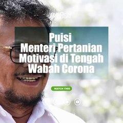 Puisi Menteri Pertanian Motivasi untuk Lawan Wabah Corona