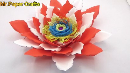 How to make lavender paper flower | Easy origami flowers for ... | 240x426
