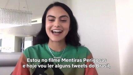 Camila Mendes aprende gírias da língua Portuguesa   Netflix Brasil