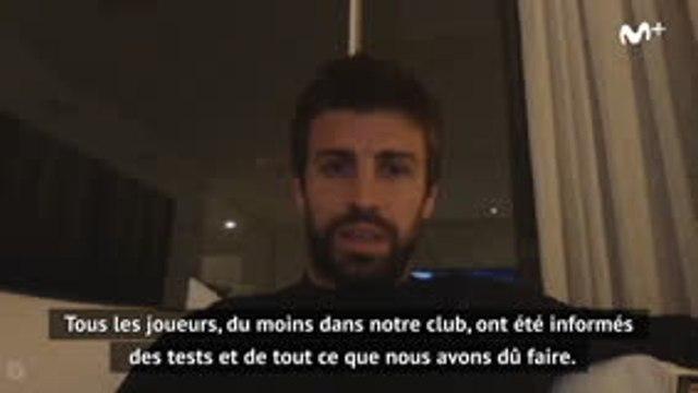 """Barcelone - Piqué appelle les joueurs à """"respecter le protocole"""""""