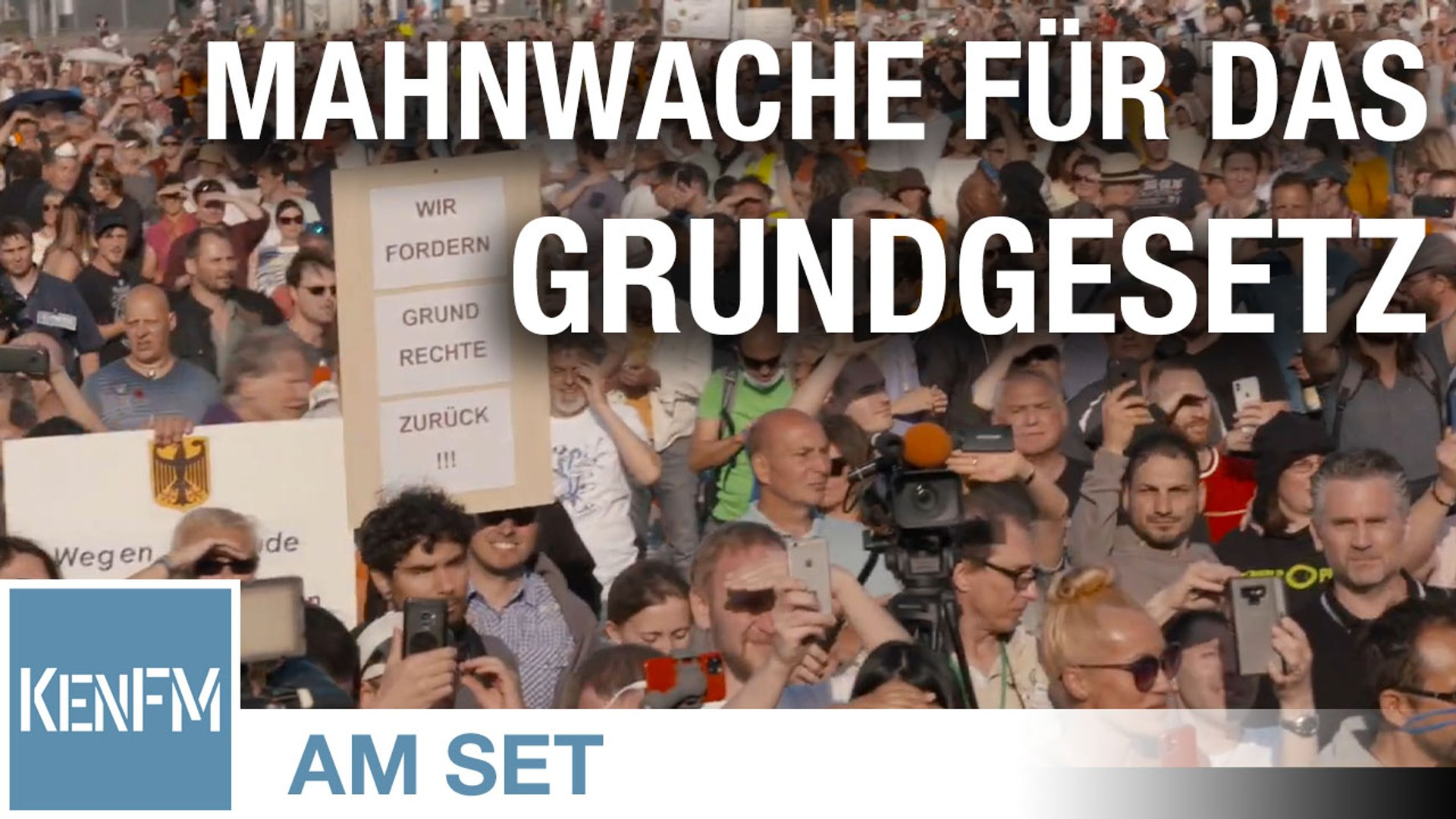 KenFM am Set: 7. Mahnwache für das Grundgesetz von Querdenken-711 am 9.5.2020 in Stuttgart