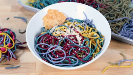 You'll Never Want Plain Noodles Again After Making This Colorful Rainbow Pasta