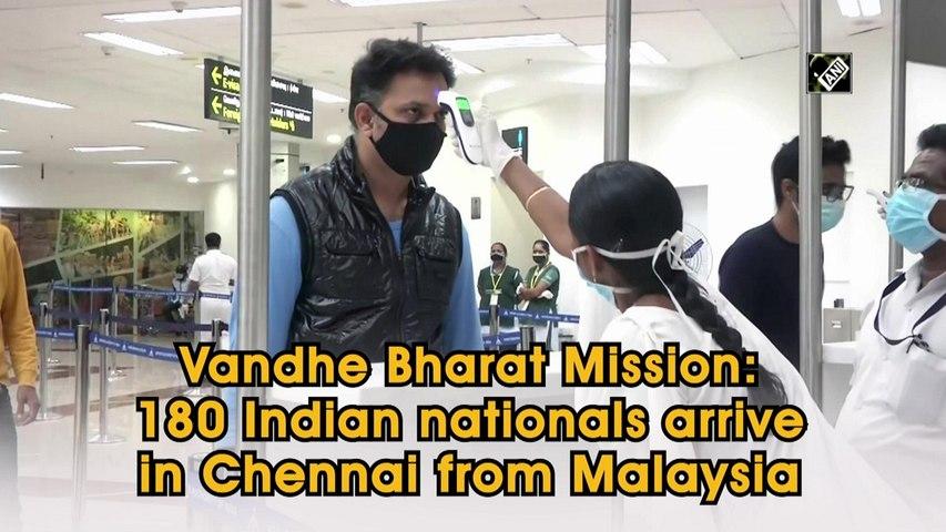 Vandhe Bharat Mission: 180 Indian nationals arrive in Chennai from Malaysia
