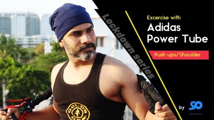 Lockdown Series- Push ups, Shoulder Lateral Raise with Adidas power tube | Oneindia Malayalam