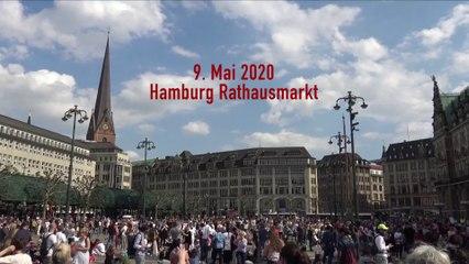 Protest für Grundrechte in Hamburg - 9.5.2020