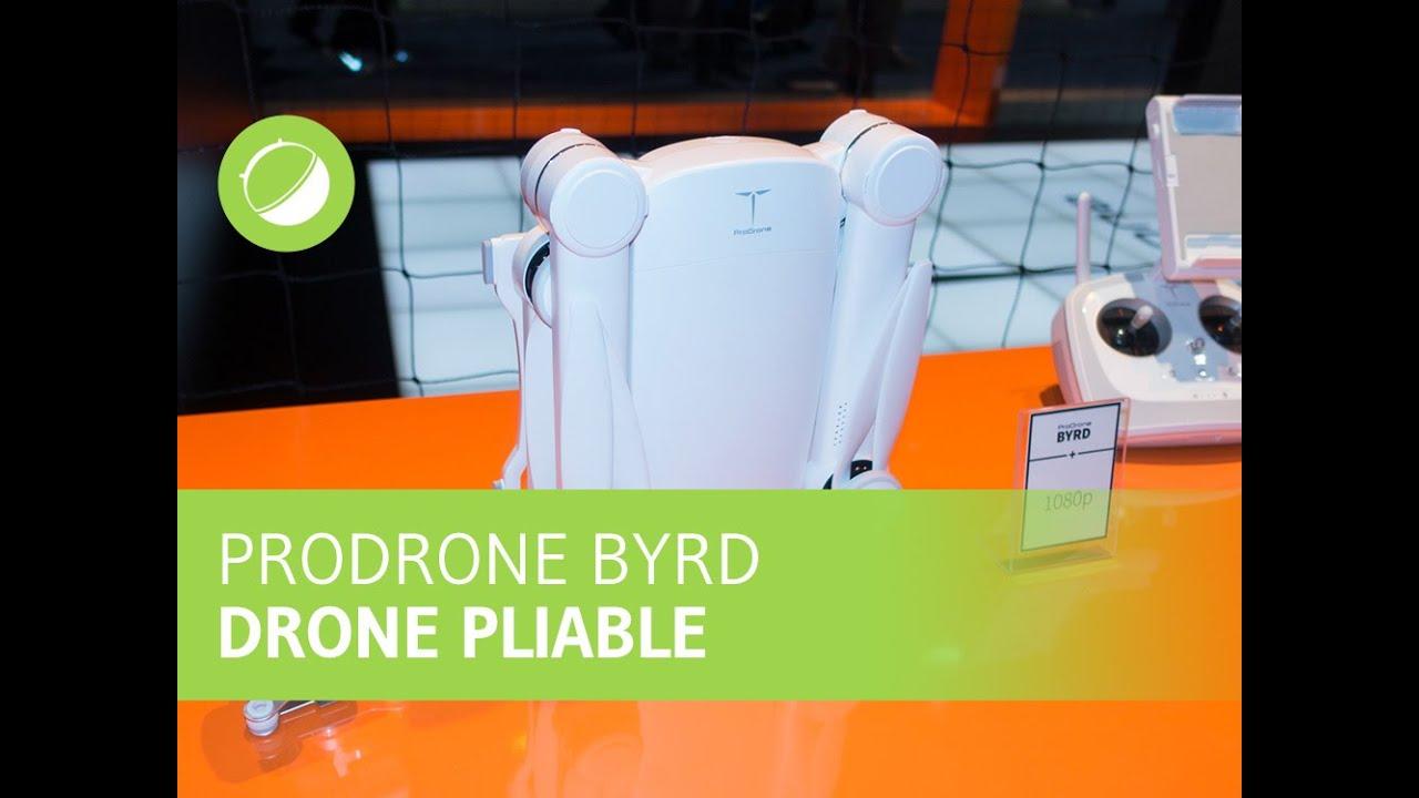 ProDrone Byrd : le drone pliable supportant des appareils photos hybrides