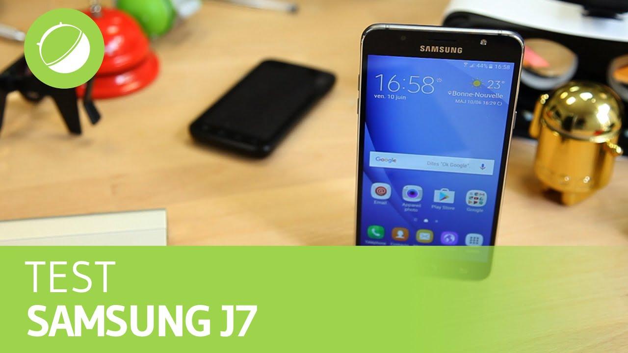 SAMSUNG GALAXY J7 (2016) : Le test