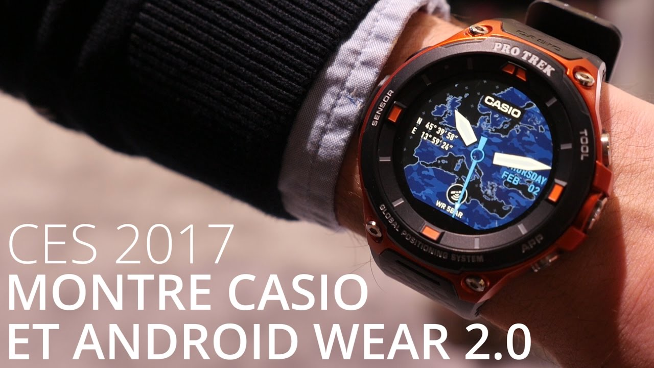 La nouvelle montre connectée Casio sous Android Wear 2.0 - Casio Smart Outdoor Watch