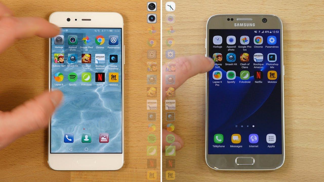 Speedtest Huawei P10 vs Samsung Galaxy S7