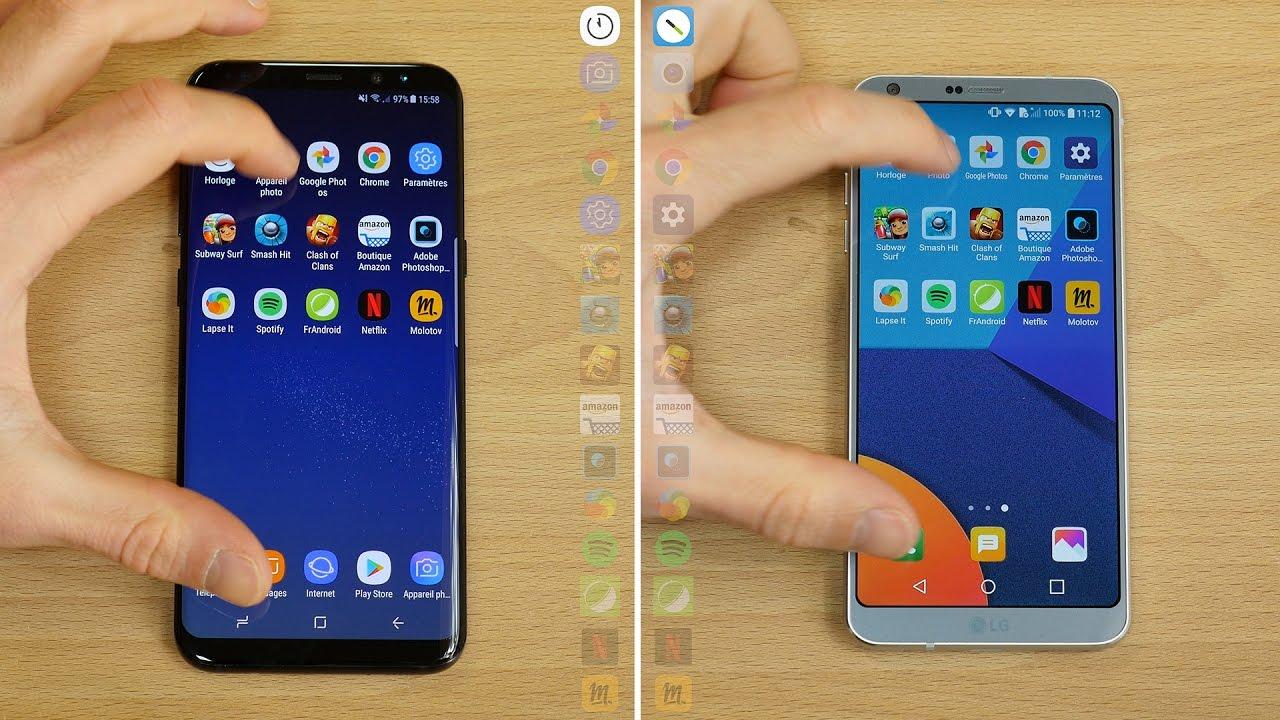 Speedtest Samsung Galaxy S8 vs LG G6
