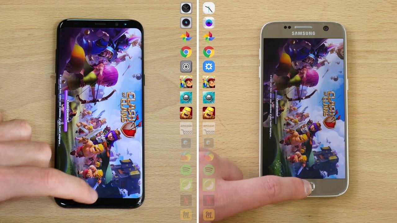 Speedtest Samsung Galaxy S8 vs Samsung Galaxy S7
