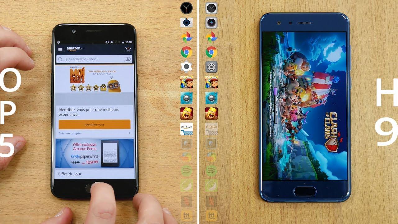 Speedtest OnePlus 5 vs Honor 9