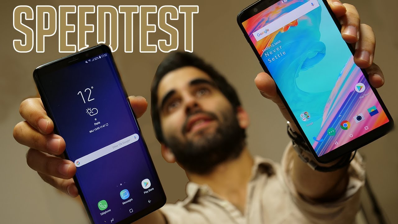 SPEEDTEST SAMSUNG GALAXY S9+ vs ONEPLUS 5T