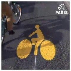 50 kilomètres de pistes cyclables temporaires à Paris