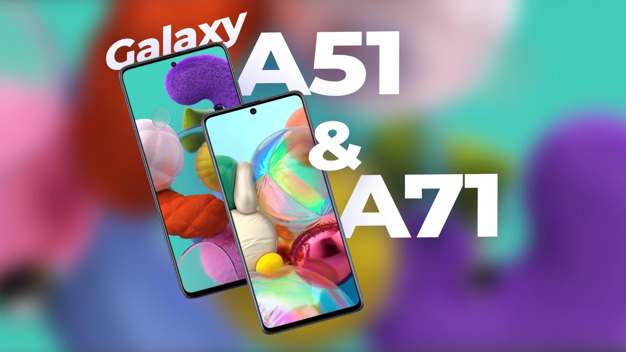 Samsung Galaxy A51 et Galaxy A71 : un air de Galaxy S11 ?