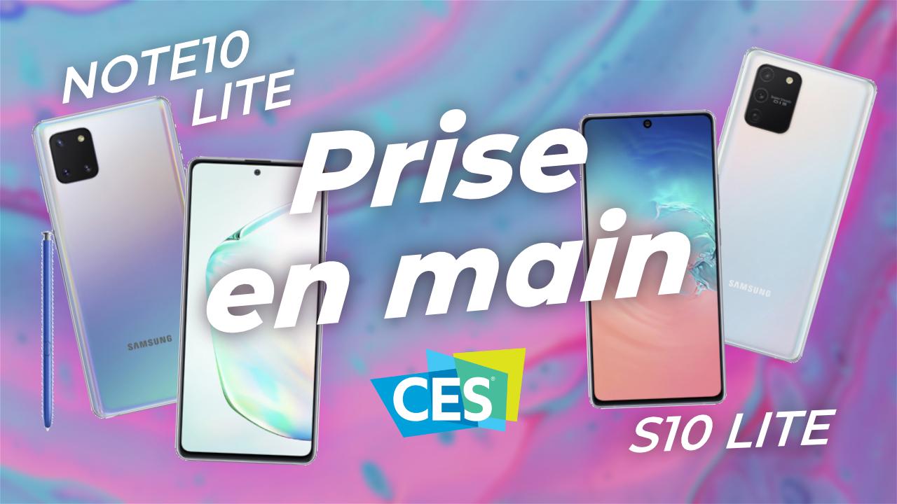 Samsung Galaxy Note 10 Lite et S10 Lite : notre PRISE EN MAIN !