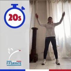 SAVATE boxe française - Atelier 3 - TABATA / #BOUGEZCHEZVOUS…⏱ … avec Aurore VIVIER