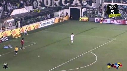 Geuvânio's skillful finish for Santos vs Sport