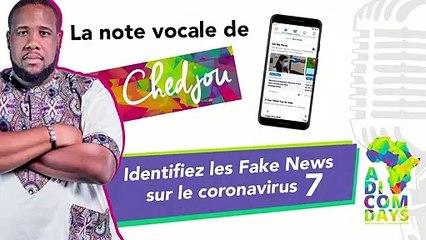La note vocale de Chedjou #7 : Identifiez les Fake News sur le coronavirus