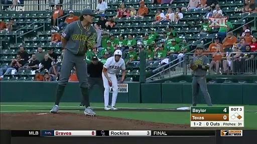 Baylor vs Texas Baseball Highlights