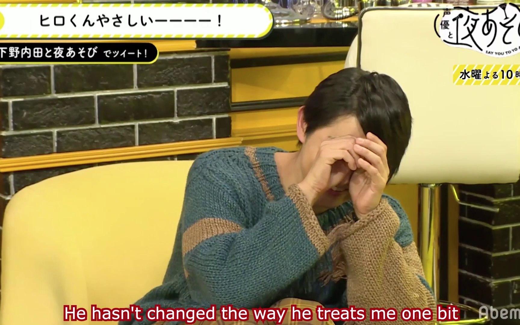 Shimono Hiro is embarrassed by Uchida Maaya's compliments