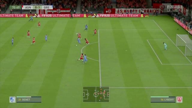 AS Nancy-Lorraine - Grenoble Foot 38 : notre simulation FIFA 20 (L2 - 33e journée)