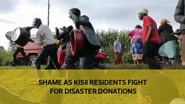 Shame as Kisii residents fight for disaster donations