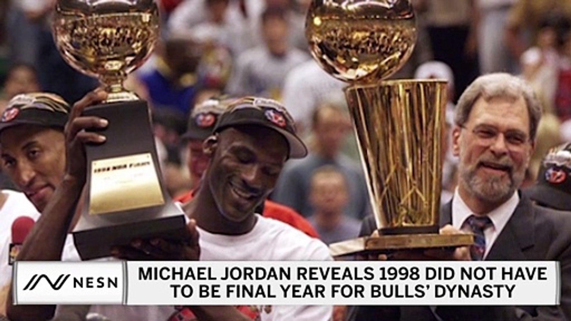 Michael Jordan On Bulls Breakup I Just Can T Accept It Video Dailymotion