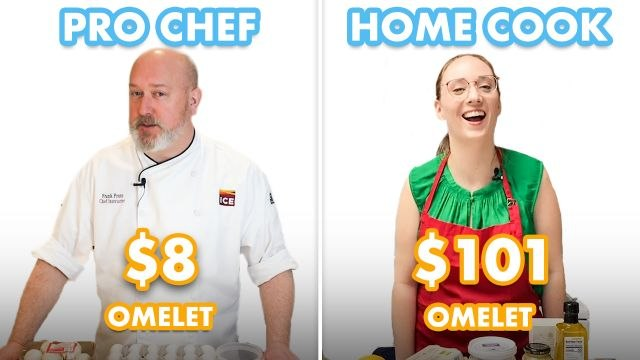 $101 vs $8 Omelet: Pro Chef & Home Cook Swap Ingredients