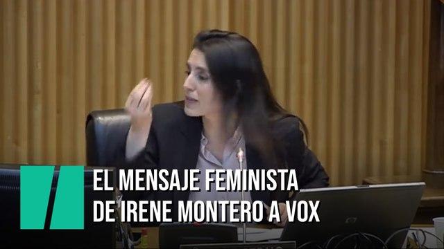 """El indignado discurso de Irene Montero contra Vox: """"Me parece un insulto"""""""