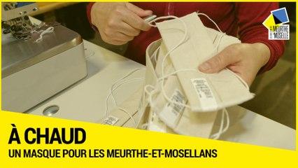 Un masques pour les Meurthe-et-Mosellans - Reportage à l'unité de production de Maxéville