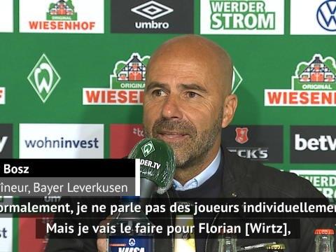 """26e j. - Bosz : """"Wirtz a été important pour nous"""""""