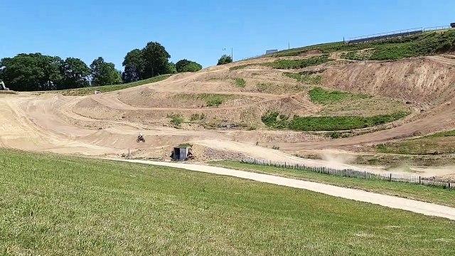 Motocross : le nouveau circuit d'Ernée (53)