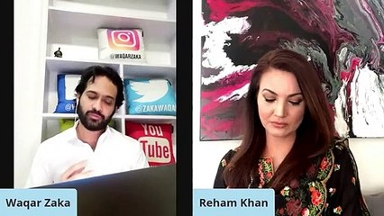 Look at Reham Khan reaction in this video