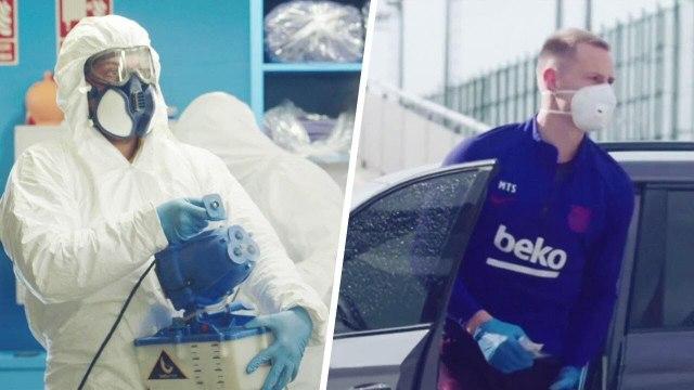 L'énorme transformation du centre d'entraînement du FC Barcelone à cause du coronavirus   Oh My Goal