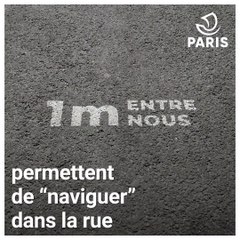 Paris met en place une signalétique au sol pour aider à adopter les nouvelles mesures sanitaires