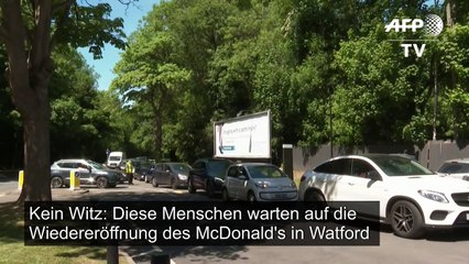Verkehrschaos nach McDonald's-Wiedereröffnung in England