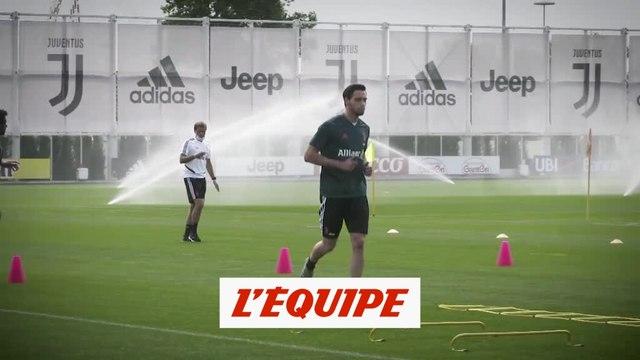 CR7 de retour à l'entraînement - Foot - ITA - Juve