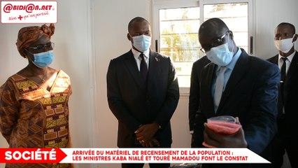 Arrivée du matériel de recensement de la population : Les ministres Kaba Nialé et Touré Mamadou font le constat