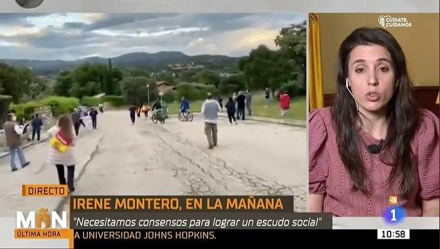 Montero amenaza a Ayuso y a Abascal con escraches