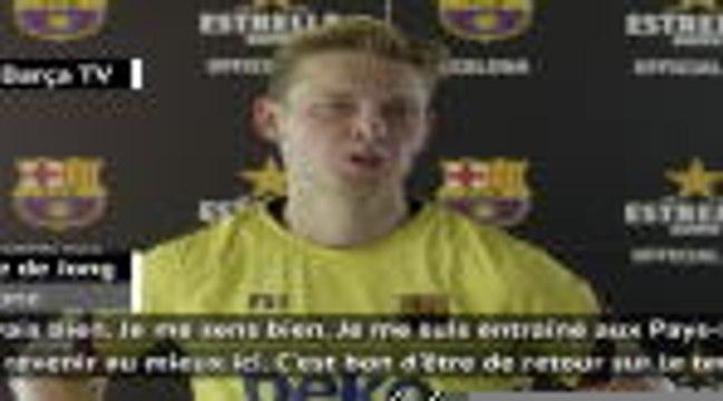 """Barcelone - Frenkie de Jong : """"Dans quelques semaines, on sera prêts"""""""