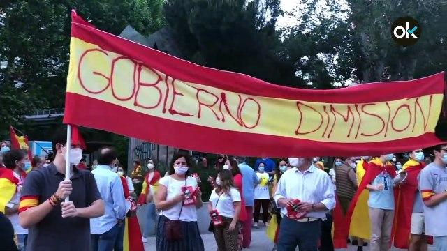 Cacerolada y manifestación en el Paseo de la Habana (Madrid)