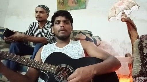 Song cover on guitar