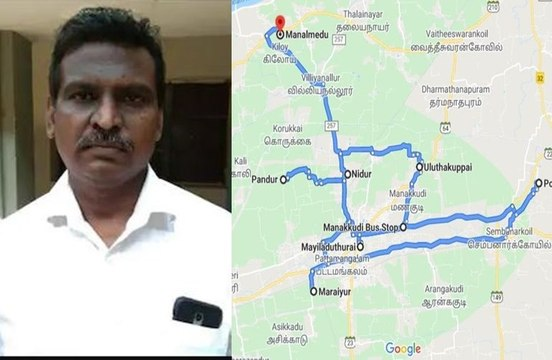 A man in Tamil Nadu has filed a complaint against Google Map
