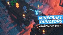 Gameplay de Minecraft Dungeons en Xbox One X