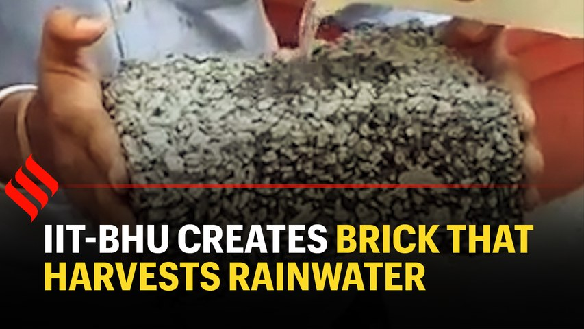 Brick that passes rainwater to ground and remains intact