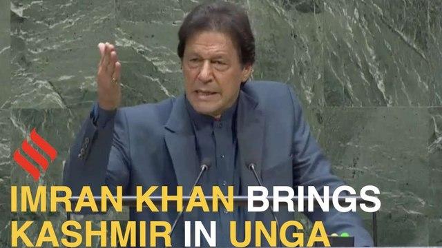 At UNGA, Imran Khan raises Kashmir, targets Narendra Modi