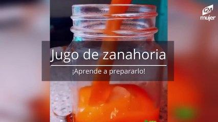 Aprende a preparar zumo o jugo de zanahoria